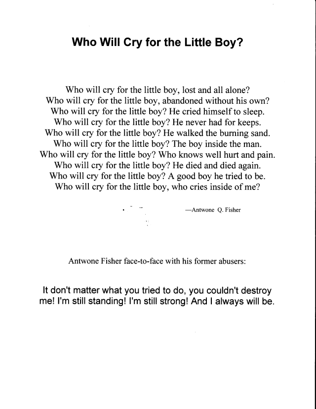 Antwone fisher essay